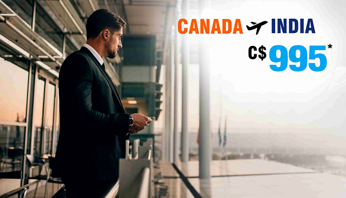 April Travel offers:Canada to India round trip flight deals